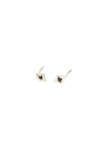 Black Spinel Sterling Silver Astral Studs by Anastasia Mannix