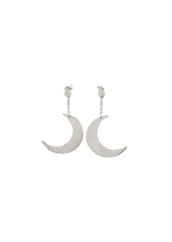 Crescent Moon Earrings, Anastasia Mannix, Crescent Moon, moon, sterling silver, silver moon, silver earring, silver jewellery, handmade jewellery, moon jewellery, moon earring, crescent moon, lunar earring