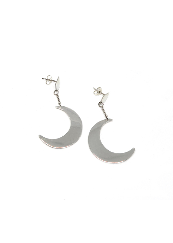 Crescent Moon Earrings, Anastasia Mannix, Crescent Moon, moon, sterling silver, silver moon, silver earring, silver jewellery, handmade jewellery, moon jewellery, moon earring, crescent moon, lunar earring