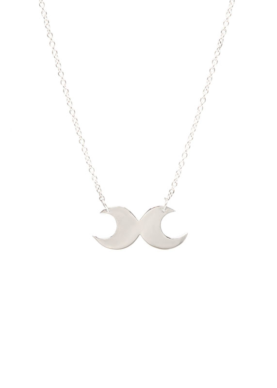 Double Moon Necklace