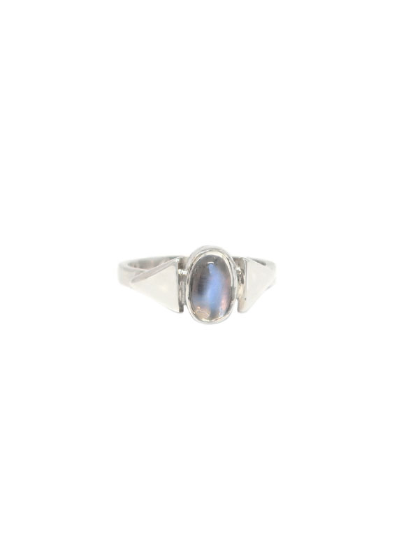 sterling silver moonstone ring.