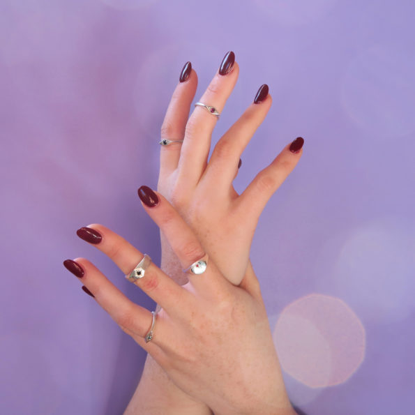 Anastasia Mannix, jewellery, hands, hand model, rings, silver rings