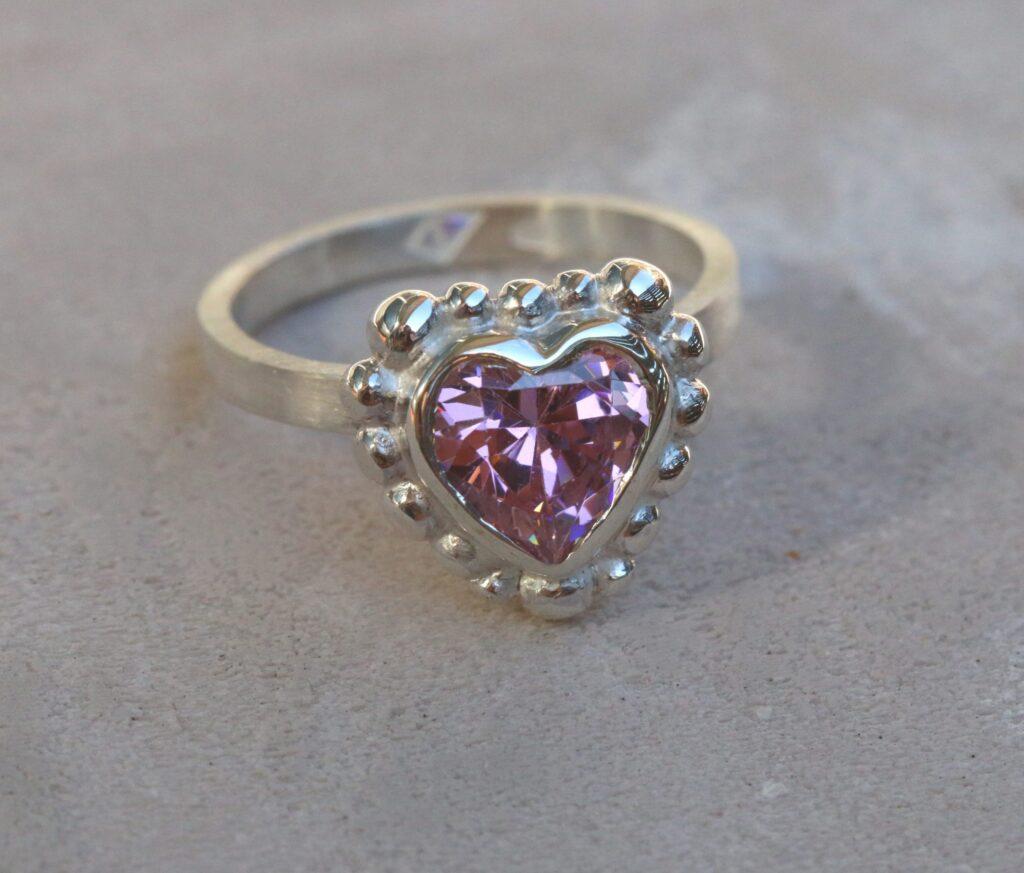Constantina's Ring, silver, heart, ring