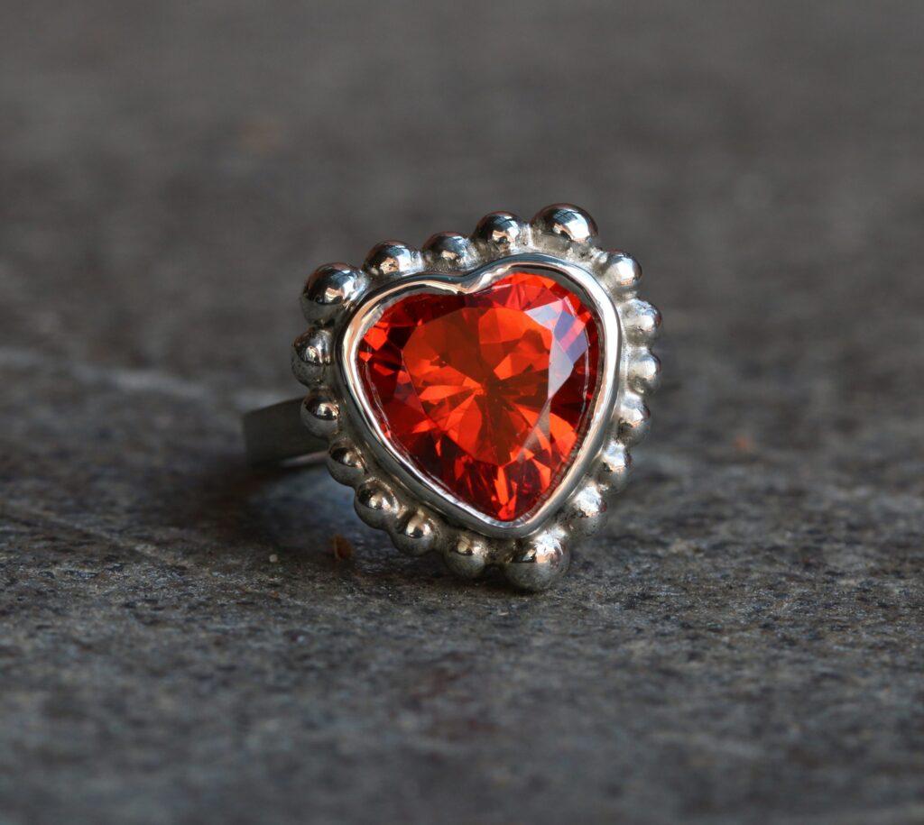 Eutropia's Ring, silver, ring, heart